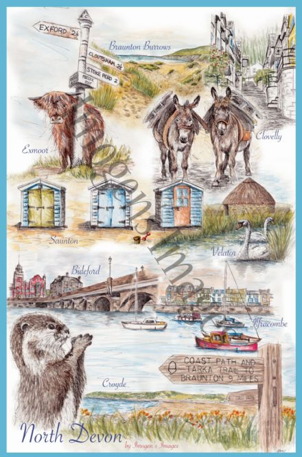 North Devon Tea Towel (Images)